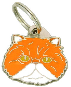 Persian cat white & red - pet ID tag, dog ID tags, pet tags, personalized pet tags MjavHov - engraved pet tags online